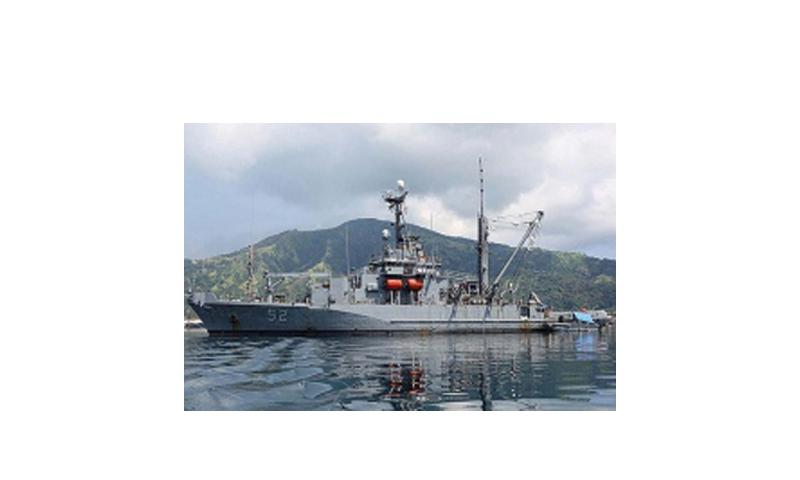 The Navy has sent the USNS Salvor to the Philippines in an attempt to free the grounded USS Guardian, which has been stuck on a reef since Jan. 17, 2013. U.S. Navy photo