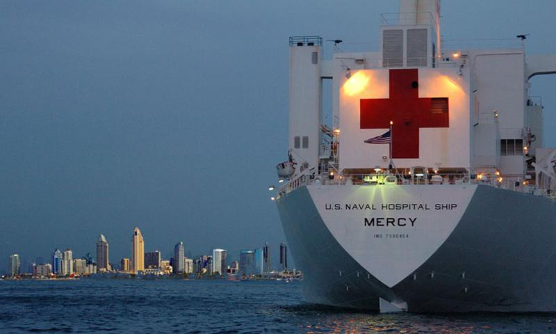 Photo courtesy of USNS Mercy website