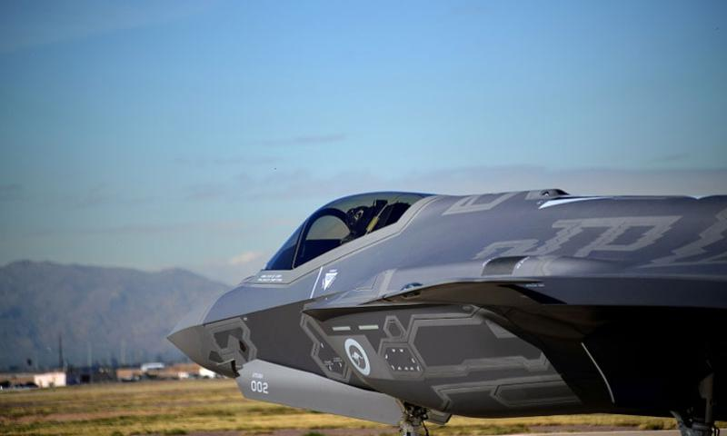 An F-35 Lightning II destined for Australia prepares to launch Jan. 28 at Luke Air Force Base, Ariz., on Jan. 28, 2015.    Timothy Boyer/U.S. Air Force
