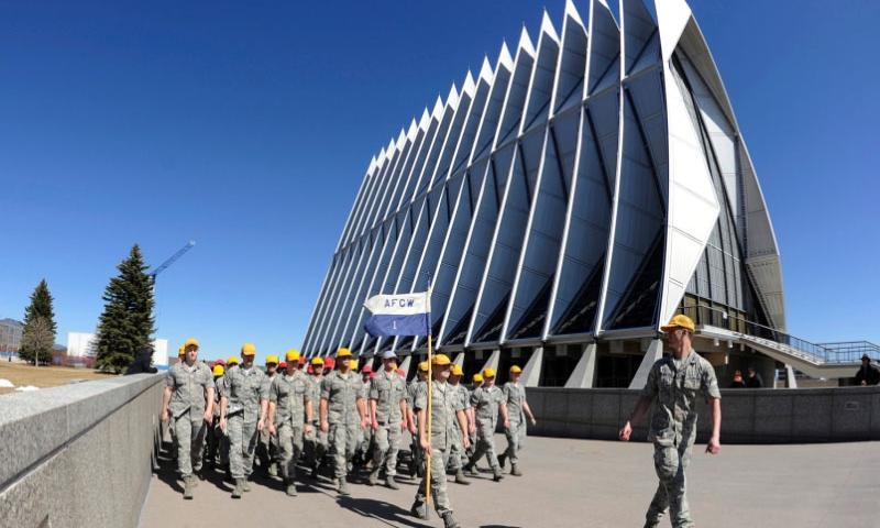 Cadets participate in The Run to the Rock as part of Recognition events at the U.S. Air Force Academy in Colorado Springs Colo. Mar. 14, 2015.   Bill Evans/U.S. Air Force