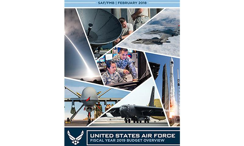 U.S. Air Force Courtesy graphic. Budget Overview Board cover of 2019 Budget Overview.