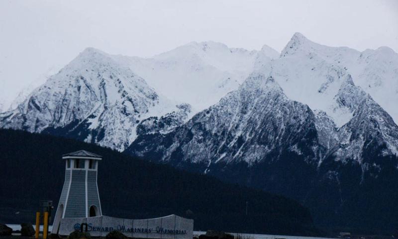 Stunning mountains flank the harbor at Seward, Alaska.    Seth Robson/Stars and Stripes