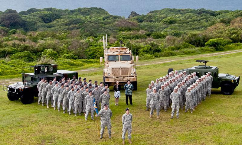 The 736th Security Force Squadron won the Pacific Air Forces Outstanding Small Security Forces Unit Award for 2012. (U.S. Air Force photo by Senior Airman Benjamin Wiseman)
