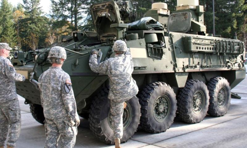 This prototype Stryker was integrated with Warfighter Information Network-Tactical Point of Presence capability.  U.S. Army