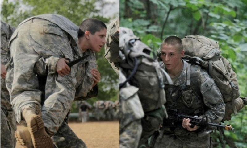 Capt. Kristen Griest, left, and 1st Lt. Shaye Haver, right, will become the first female soldiers ever to graduate from Ranger School on Aug. 21, 2015.    Nikayla Shodeen and Ebony Banks/U.S. Army