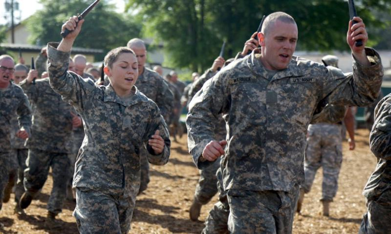 Soldiers conduct combatives training during the Ranger course at Fort Benning, Ga., April 20, 2015.    Dacotah Lane/U.S. Army
