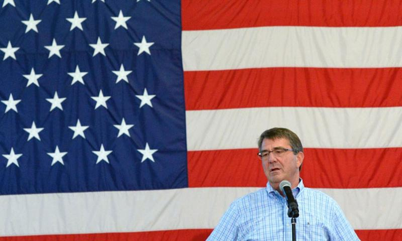 Secretary of Defense Ash Carter speaks to Soldiers at Fort Bragg, N.C., about the force of the future on July 10, 2015.  Sean Hurt/DOD