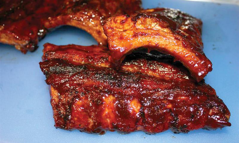 Baby backs with makeup! Photo by Reuben Oliva/BBQ Guam