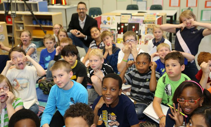 DODEA Director, Marilee Fitzgerald asks Ms. Melinda Draper's class, Zama American Photo courtesy of Department of Defense Education Activity, Pacific