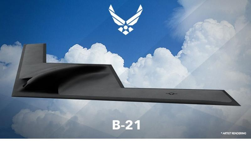 An artist's rendering of the B-21 Long Range Strike Bomber, was unveiled Feb. 26, 2016, at the Air Force Association's Air Warfare Symposium. The Air Force is launching a contest to choose a name for it.