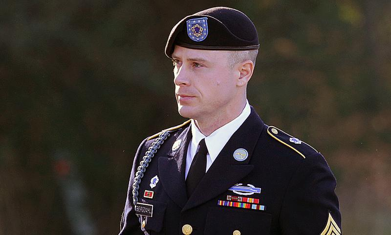 Sgt. Bowe Bergdahl arrives for a pretrial hearing at Fort Bragg, N.C., on Jan. 12, 2016. Ted Richardson/AP