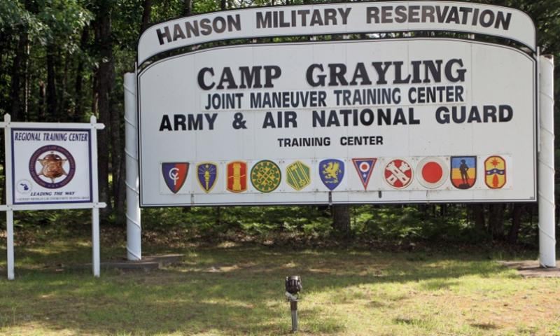 The welcome sign at Camp Grayling Joint Maneuver Training Center, Mich., July 13, 2014. SETH LACOUNT/MICHIGAN NATIONAL GUARD