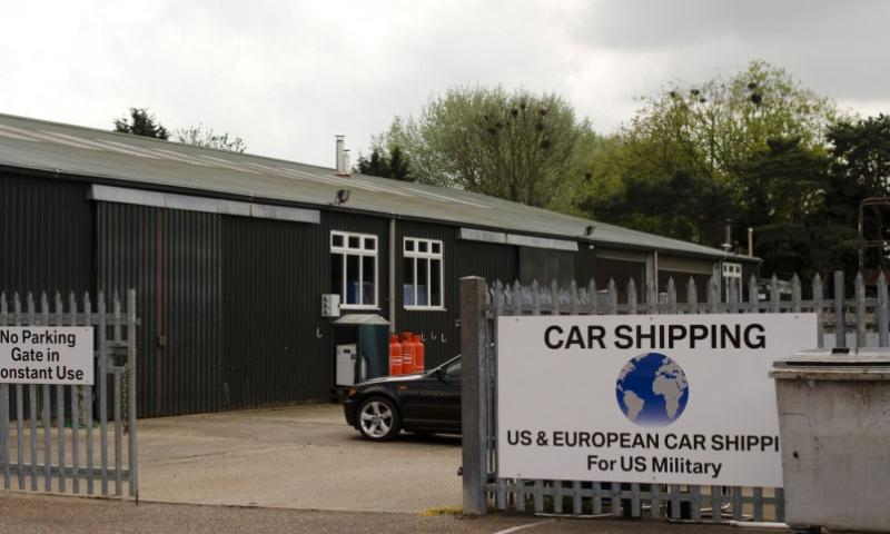 International Auto Logistics opened new vehicle processing centers like this one in Mildenhall, England, when it took over the contract in May 2014 to ship servicemembers' vehicles.  Adam L. Mathis/Stars and Stripes