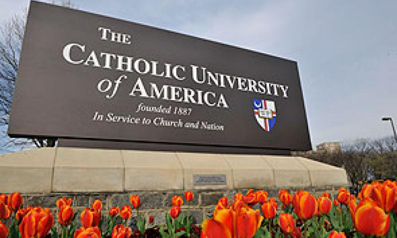 Many first-time visitors to campus are captivated by the university's expansive setting among tree-lined rolling hills where the skyline is dominated by the adjacent, majestic Basilica of the National Shrine of the Immaculate Conception, the largest Catholic church in the United States. www.cua.edu