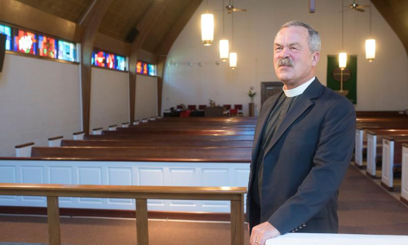 The Rev. John Weatherly, a retired Army colonel, is chaplain at St Mark's Episcopal Church. He served tours in Bosnia and Iraq; he has participated in several workshops on post-traumatic stress disorder and can speak about trauma from a chaplain's point of view. 	 Marvin Joseph/The Washington Post