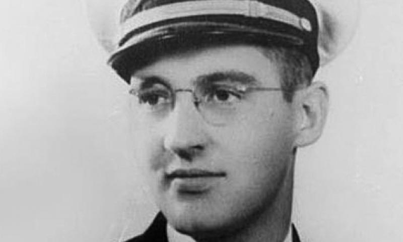 Navy Chaplain, Lt. j.g. Aloysius Schmitt. U.S. Navy