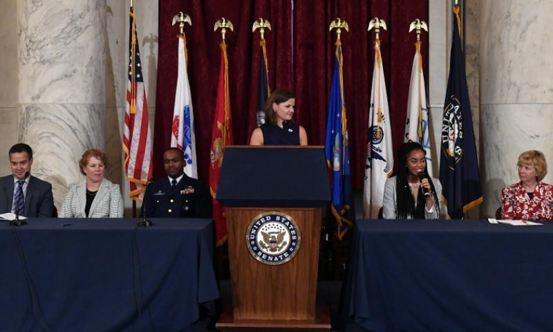 RianSimone Harris, Boys and Girls Clubs of America National Military Youth of the Year, speaks during a panel discussion on Capitol Hill, Sept. 8, 2016. Courtesy of Boys & Girls Clubs of America