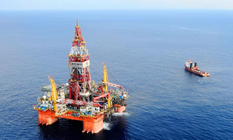 A deep-water drilling rig developed in China lies 200 miles southeast of Hong Kong in the South China Sea on May 7, 2012. Vietnam warned China on May 6, 2014, that it would take all necessary measures to defend its interests in the South China Sea if Beijing does not remove the large oil rig from waters claimed by both countries. JIN LIANGKUAI, XINHUA/AP