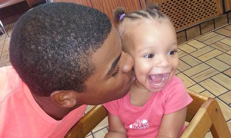 Davon Green and his daughter.