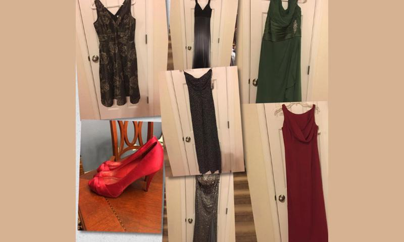 Dresses received by Operation Deploy Your Dress.  Facebook
