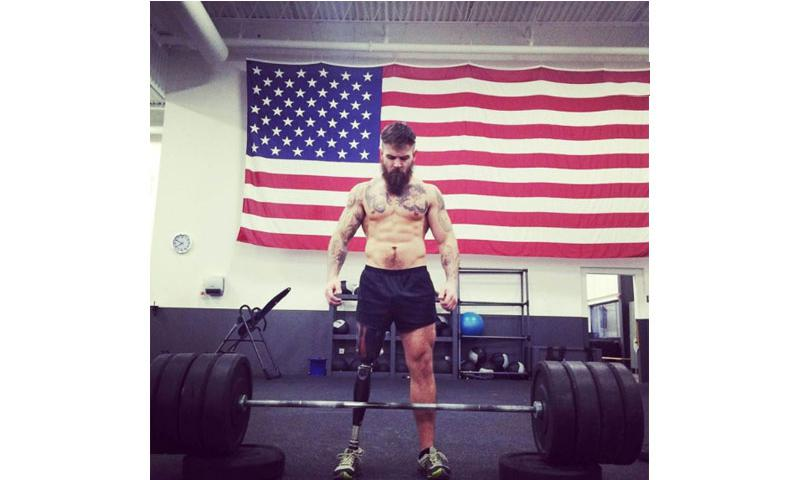 Derek Weida, an amputee Army veteran who served three tours in Iraq with the 82nd Airborne Division, credits fitness with helping him break out of severe depression after an insurgent's bullet ended his Army career. Through motivational videos and a nonprofit that helps veterans cover fitness-related expenses such as gym fees and personal training, Weida has found a new way to serve by trying to re-create his success for others.    Courtesy of Derek Weida