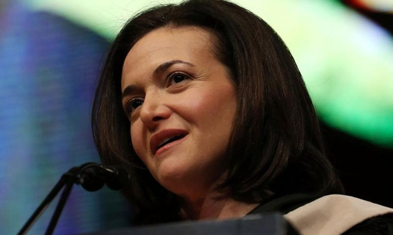 Facebook Chief Operating Officer Sheryl Sandberg speaks at an event May 3, 2014, in Chicago.    John J. Kim/Chicago Tribune/MCT