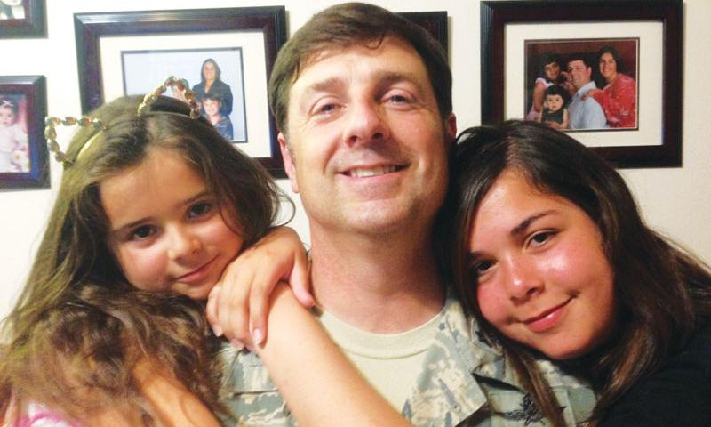 Lt. Col. Robert Taylor, USAG Yongsan and his two daughters. Photo courtesy of Taylor family