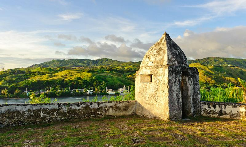 Fort Soledad is perhaps the most famous and is now a park site often visited by tourists. Photo by Jesse Garrido, courtesy of Guampedia