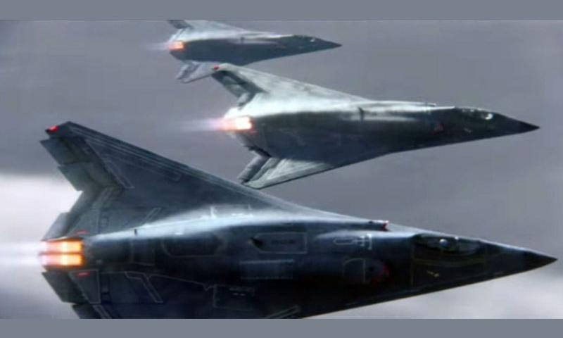 A new Northrop Grumman commercial shows its new sixth generation fighter jets.    YouTube video still image
