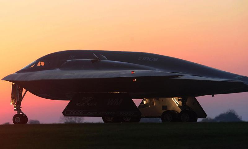 U.S. Air Force B-2 Spirit bomber aircraft from Whiteman Air Force Base, Missouri, like the one pictured above, deploy to Andersen Air Force Base, Guam, as a routine deployment providing global strike capability and extended deterrence against potential adversaries in the Indo-Asia-Pacific region. (U.S. Air Force photo by Airman 1st Class Joel Pfiester)