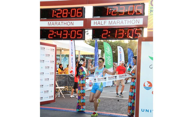 More than 2,200 runners participated in the event.