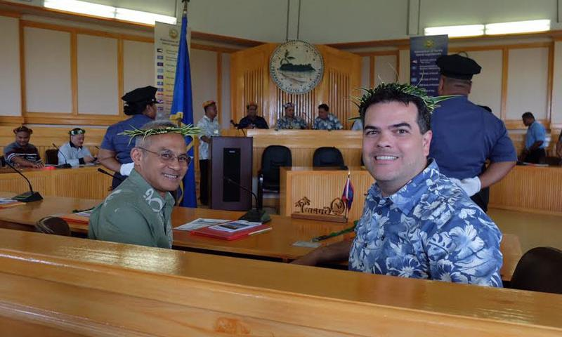 Sen. Jim Espaldon and Sen. Rory Respicio at the APIL 34th General Assembly in Pohnpei.
