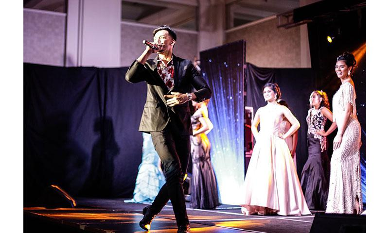 """Best Male Performer Jed Antonio performs his original hit song """"Lately"""" at the 2017 Miss Guam World pageant."""
