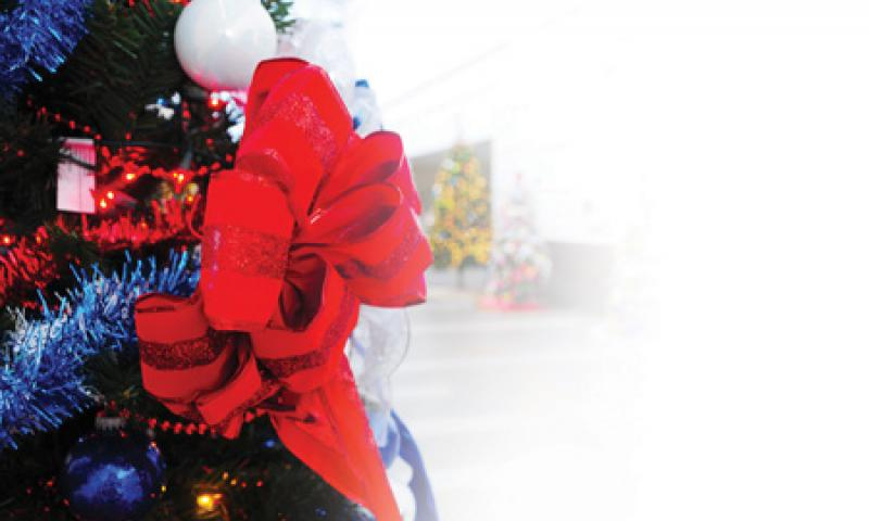 Christmas is Here: A tree sits on display for the Command Festival of Trees at the Charles King Fitness Center on U.S. Naval Base Guam (NBG) Dec. 7. The competition, sponsored by Morale, Welfare and Recreation (MWR) Guam, will end Jan 2. U.S. Navy photo by Mass Communication Specialist 2nd Class Jeremy Starr