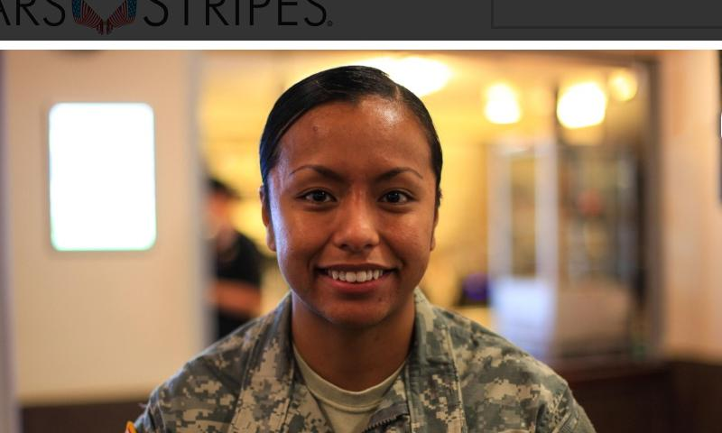 Sgt. Roseann Baena, a 26-year-old soldier assigned to Europe Regional Dental Command, said she feels safer living in Germany than in the U.S. because of the country's stricter gun laws. (Matt Millham/Stars and Stripes)