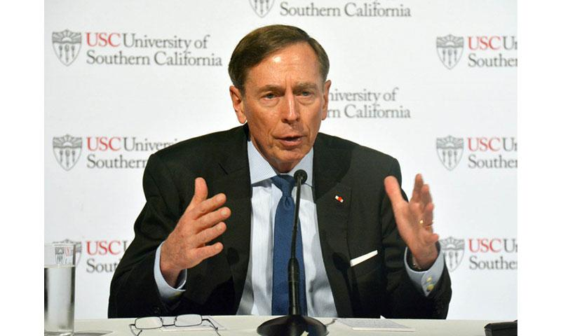 Former CIA director and retired four-star Army general David Petraeus speaks at a conference organized by the University of Southern California at the Grand Hyatt Hotel in Tokyo, Saturday, Sept. 23, 2017. SETH ROBSON/STARS AND STRIPES