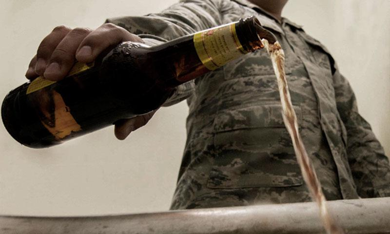 Some people follow the boozy holiday season with Dry January, an unofficial movement to abstain from alcohol for 31 days. But alcohol consumption is a year-round activity, and for some, a year-round problem that requires professional help. (U.S. Air Force photo illustration by Airman 1st Class Sahara. L. Fales)