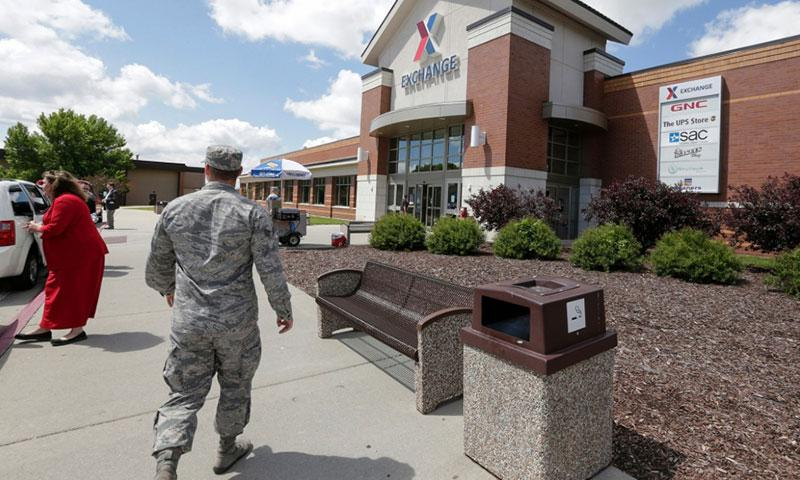 The Exchange at Offutt Air Force Base, Neb., is seen in May 2017. Starting in fall 2017, all honorably discharged veterans will be eligible to shop tax-free online at the Exchange with the same discounts they enjoyed at stores on base while they were in the military. NATI HARNIK/AP
