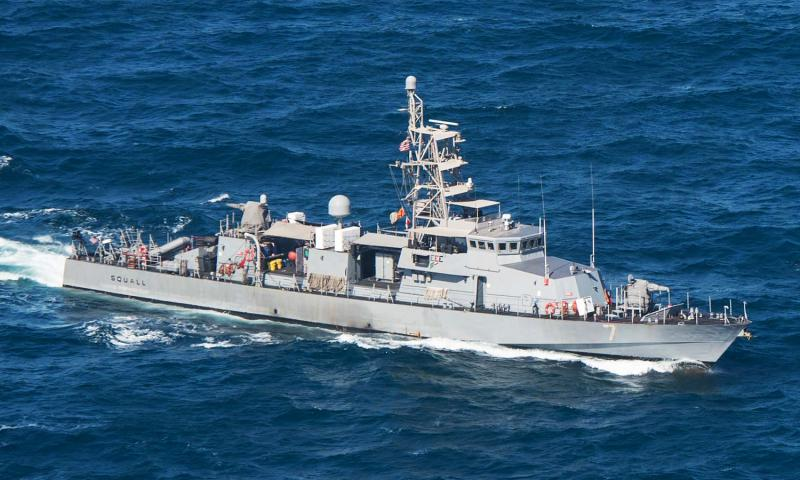 In a January, 2015 file photo, the patrol craft USS Squall steams in the Persian Gulf. Anthony R. Martinez/U.S. Navy