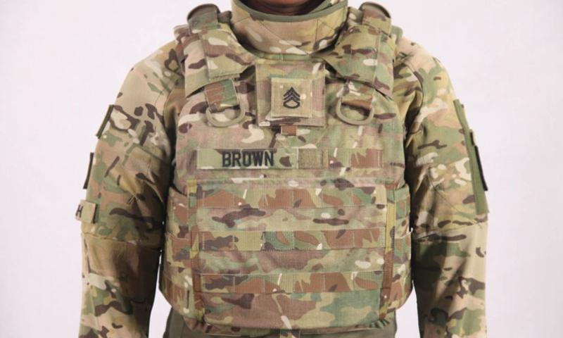 The new Torso and Extremities Protection system, which is slated to roll out in 2019 and has been undergoing field tests at bases across the U.S., weighs about 23 pounds -- 26 percent lighter than gear worn today.    Courtesy of PEO Soldier