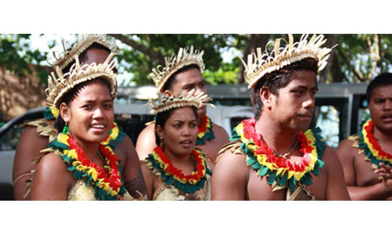 Kiribati delegates at the Festival of Pacific Arts hosted by the Solomon Islands, 2012. Photo by Ron J. Castro