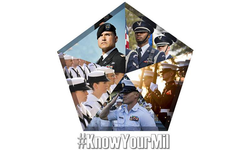 "The Defense Department launches its ""This Is Your Military"" initiative Feb. 1, 2018, to highlight the work of the men and women of the military, dispel myths about military service and increase awareness among the American public. DoD graphic"