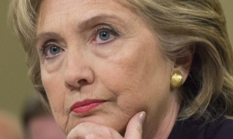 Former Secretary of State Hillary Clinton testifies at a House Select Committee on Benghazi hearing in October, 2015.