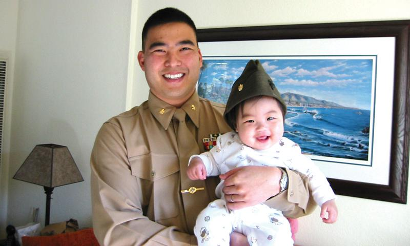 Col. Clifford D. Chen, who is currently stationed on Okinawa, and his daughter, Summer, mug for the camera a few years back. Courtesy photo