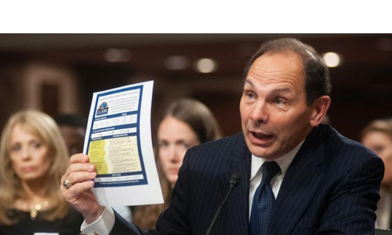 Robert McDonald answers questions from members of the U.S. Senate's Veterans' Affairs Committee considering McDonald's nomination to become the next VA Secretary during a hearing on Capitol Hill on Tuesday, July 22, 2014. CARLOS BONGIOANNI/STARS AND STRIPES