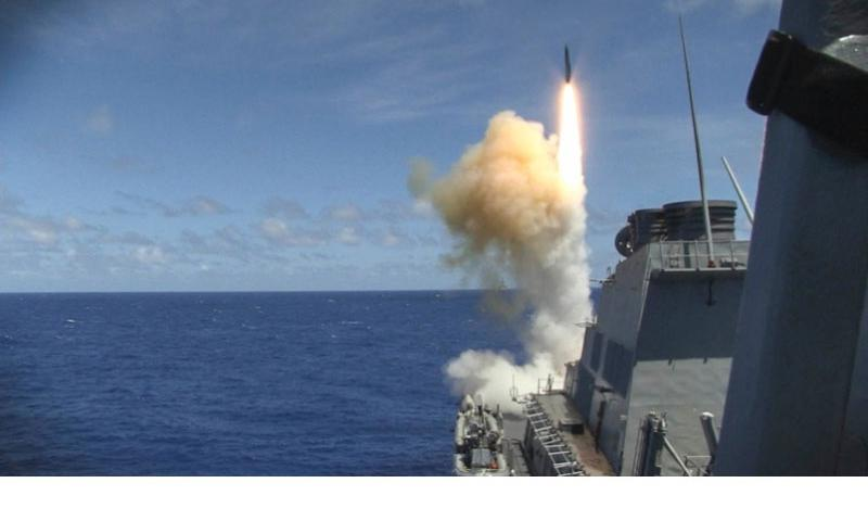 The guided-missile destroyer USS Curtis Wilbur launches a missile during Multi-Sail 2015, an annual Destroyer Squadron 15 exercise designed to assess combat systems, improve teamwork and increase warfighting capabilities in the 7th Fleet area of responsibility.  Courtesy of the U.S. Navy