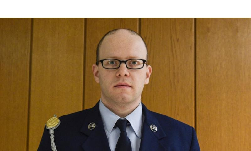 Air Force Staff Sgt. Sean Oliver was found guilty of unpremeditated murder Wednesday, Jan. 28, 2015, in the killing of Navy Petty Officer 2nd Class Dmitry Chepusov, an American Forces Network broadcaster.     Joshua L. DeMotts/Stars and Stripes