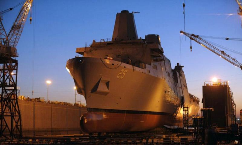 The future USS Somerset was launched from Huntington Ingalls Industries' Avondale Shipyard in April, 2012.  USS Somerset Public Affairs