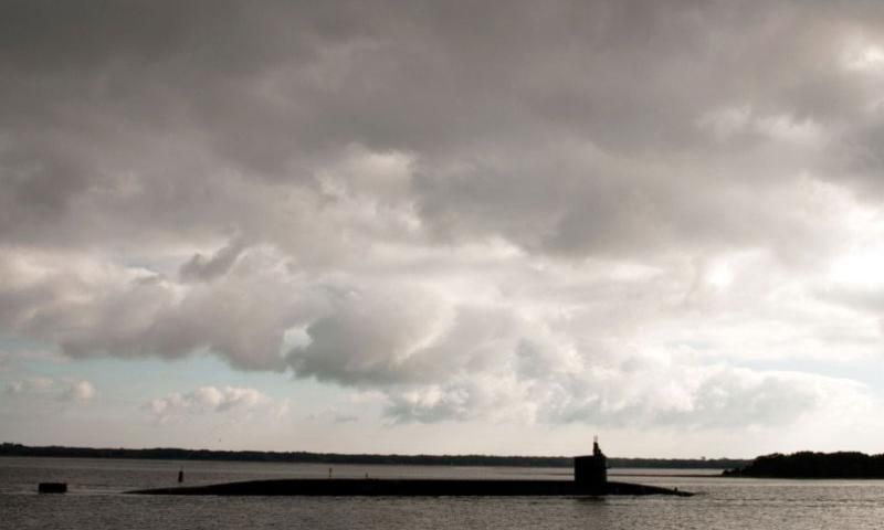 The Ohio-class ballistic-missile submarine USS Wyoming departs Naval Submarine Base Kings Bay, Ga., in early January 2011 for routine operations.    James Kimber/U.S. Navy