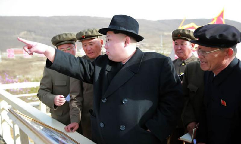 North Korean leader Kim Jong Un is sending a message to the international community that he won't be intimidated by harsh U.N. sanctions aimed at curtailing his nuclear ambitions. COURTESY OF KCNA